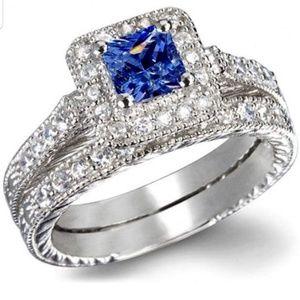Heirloom Sapphire Princess Ring Set